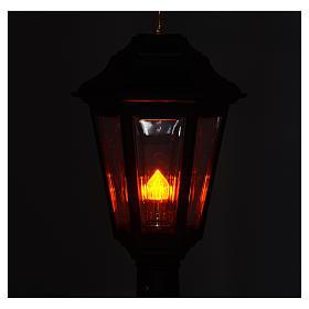 Lampione da processione nero manico legno 2 mt s4