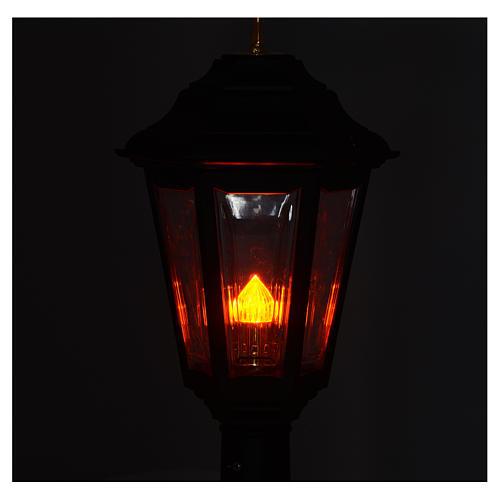 Lampione da processione nero manico legno 2 mt 4