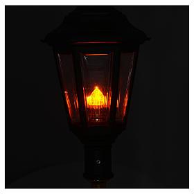 Lampione da processione verde manico legno 2 mt s4