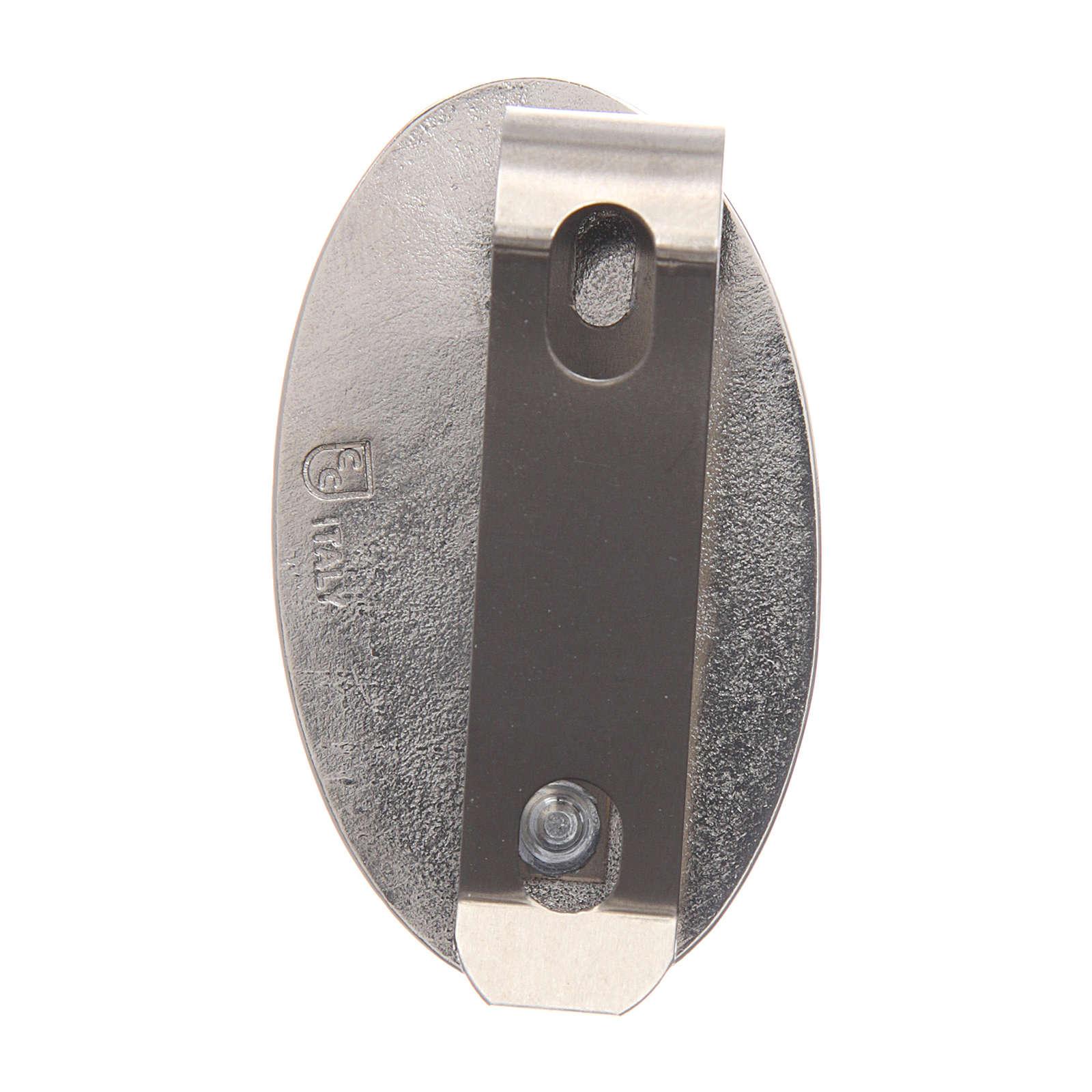 Clip S. Cristoforo per auto in metallo e resina colorata 5X3 cm 4