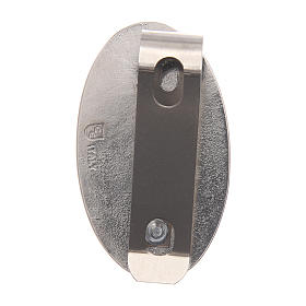 Clip S. Cristoforo per auto in metallo e resina colorata 5X3 cm s2