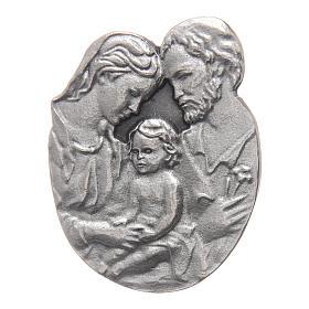 Gadżet do auta Klip Święta Rodzina metal posrebrzany relief 5x3 cm s1