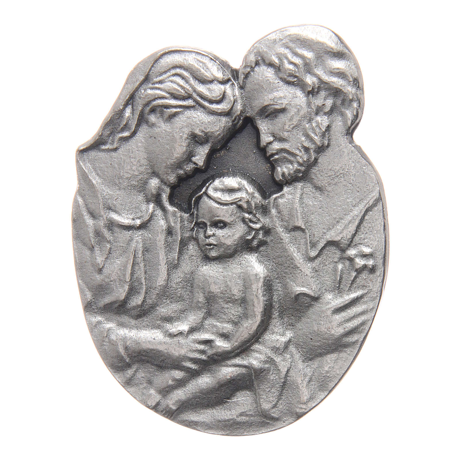 Holy Family auto clip in metal and coloured resin 5x3 cm 4