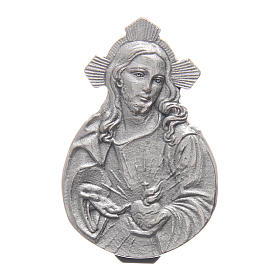 Sacred Heart of Jesus auto clip in metal and coloured resin 5X3 cm s1