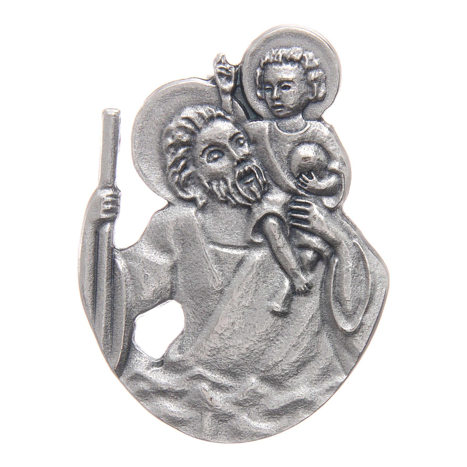 Clip per auto San Cristoforo in metallo 5X3 cm 4