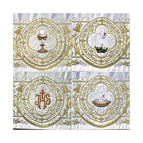 Baldacchino processionale 160x200 IHS e agnello s2