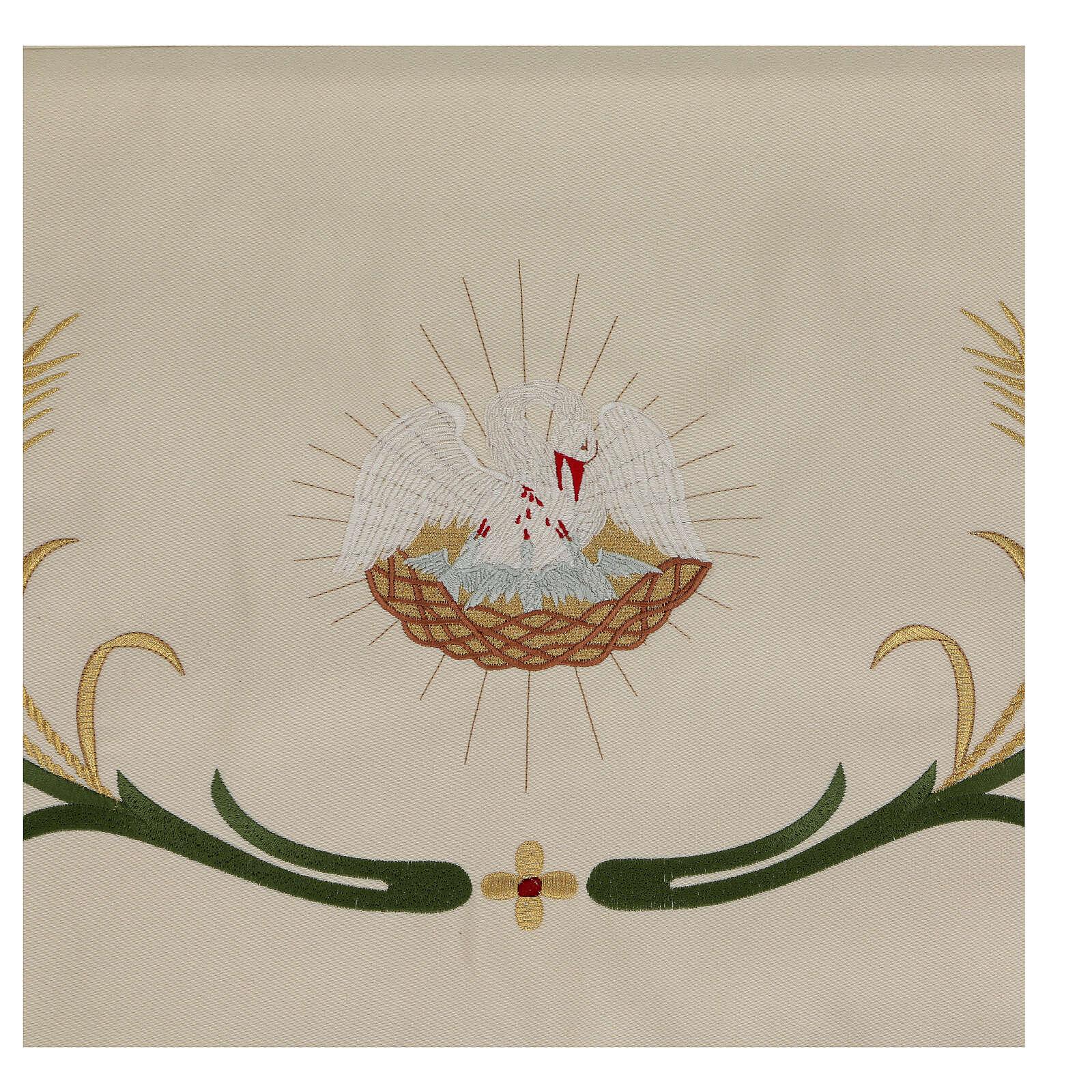 Baldaquino procesional 130x160 IHS flores y espigas 3