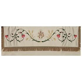 Baldaquino procesional 130x160 IHS flores y espigas s4
