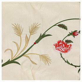 Baldacchino processionale 130x160 IHS fiori e spighe s9