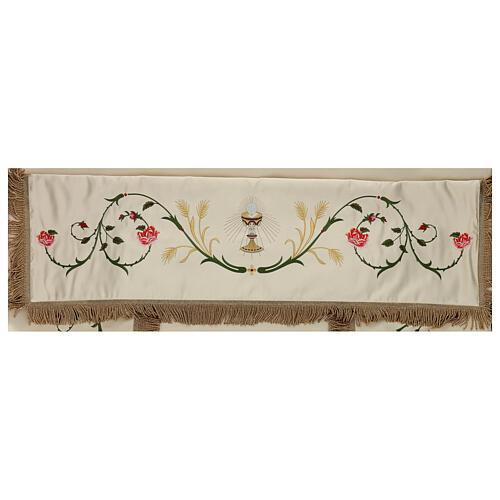 Baldacchino processionale 130x160 IHS fiori e spighe 6