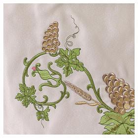 Baldaquino procesional 130x160 IHS flores y uva s6