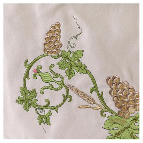 Baldaquino procesional 130x160 IHS flores y uva 6