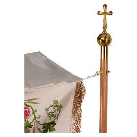Dais procession 130x160 cm IHS fleurs et raisin s8
