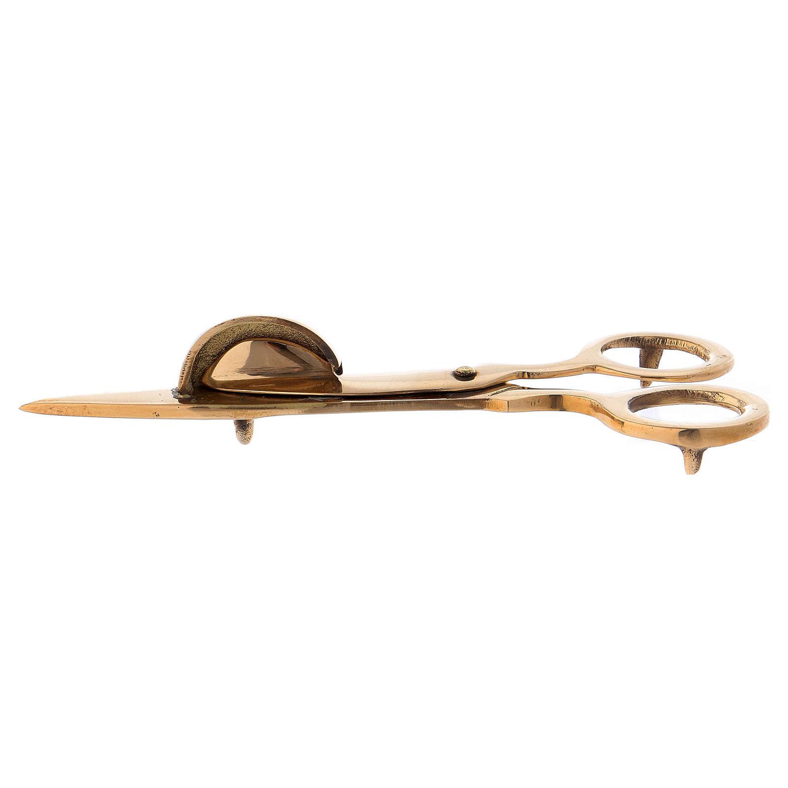 Tijeras especiales para velas latón dorado 15 cm 3