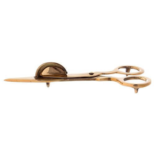 Tijeras especiales para velas latón dorado 15 cm 1