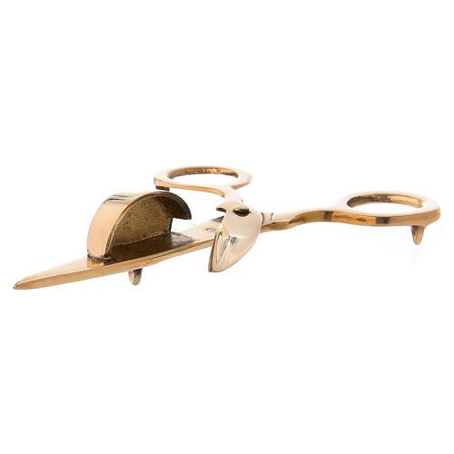 Tijeras especiales para velas latón dorado 15 cm 2