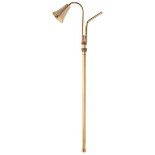 Apagador de velas extensível latão dourado polido 1