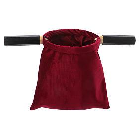 Borsa portaelemosina velluto rosso con due manici  s1