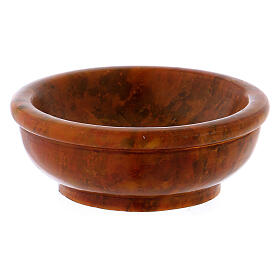 Amber-colored incense bowl diam. 3 in s1