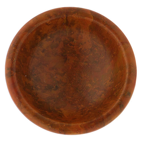 Amber-colored incense bowl diam. 3 in 2