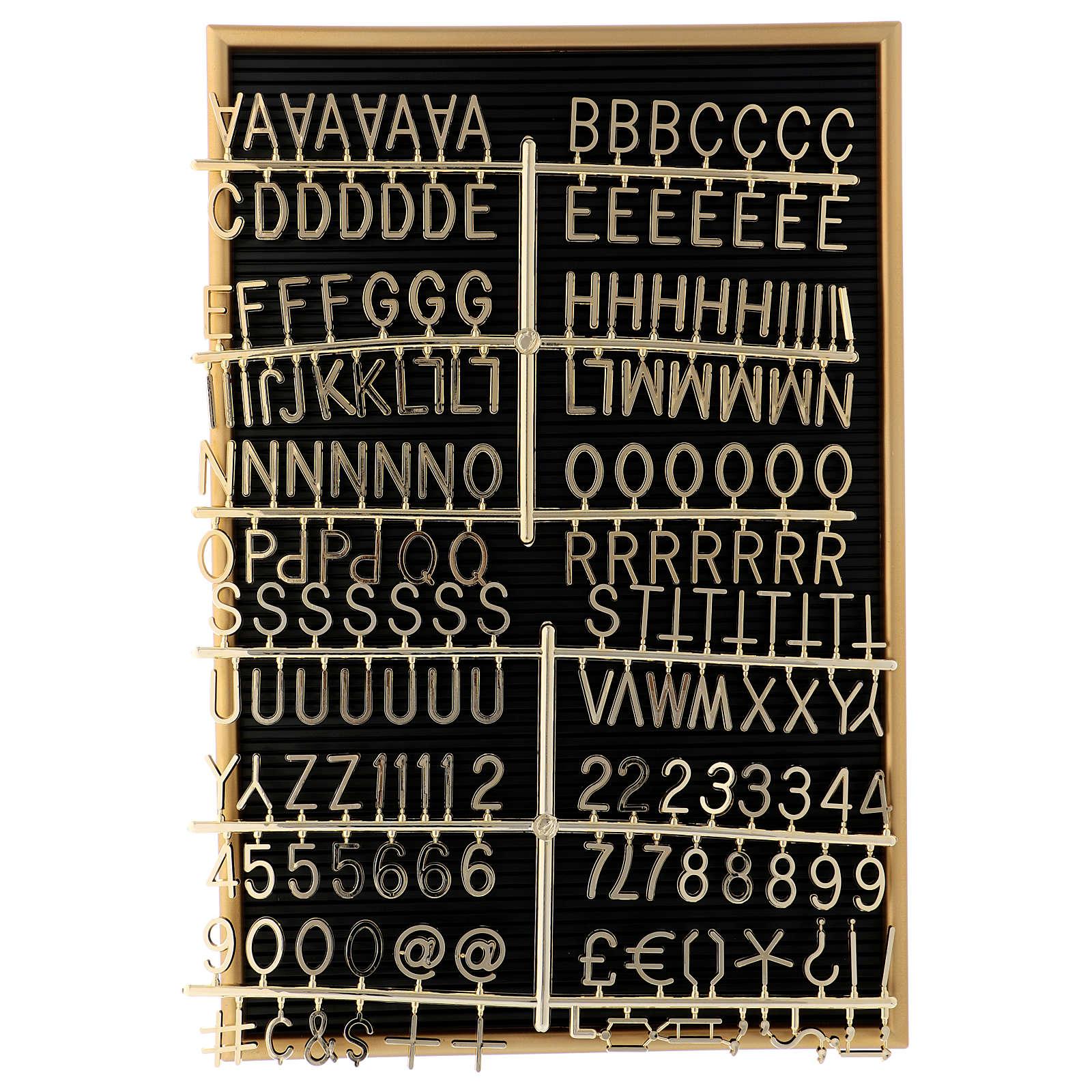 Quadro de avisos com letras e símbolos removíveis 45x30 cm 3