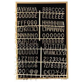 Quadro de avisos com letras e símbolos removíveis 45x30 cm s2