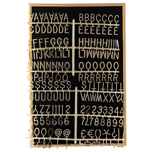Quadro de avisos com letras e símbolos removíveis 45x30 cm 2