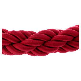 Cordon bordeaux tressé triple avec crochets 150 cm pour poteau AV000102 s4