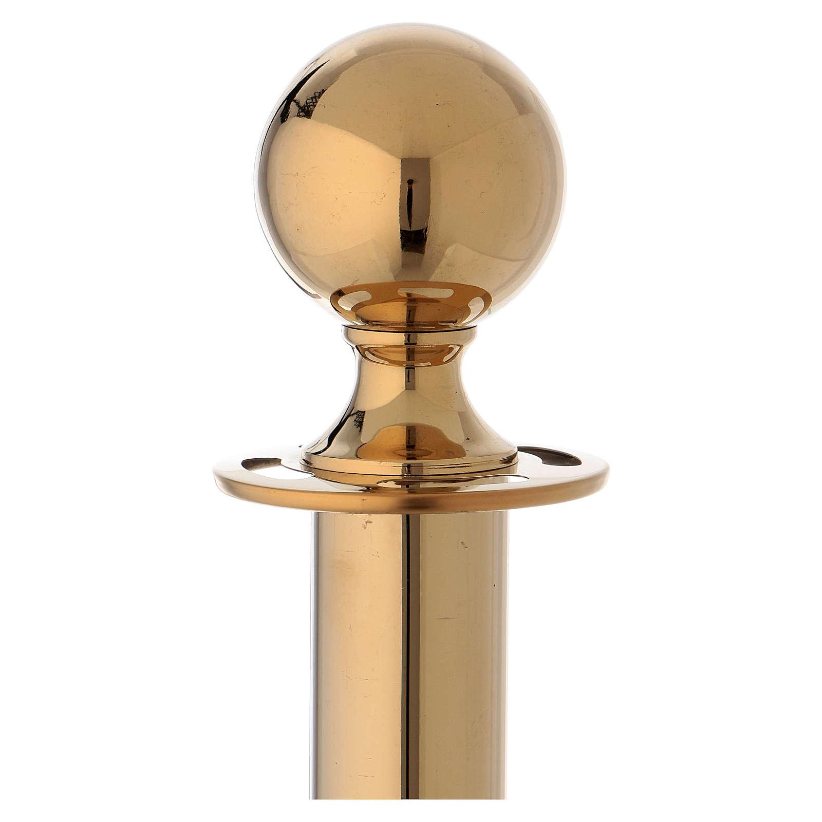 Poste de señal de acero dorado 100 cm 3