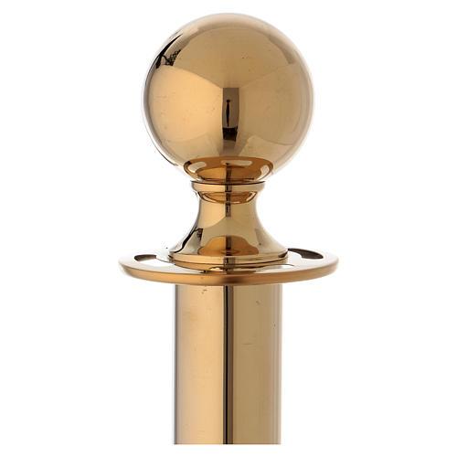 Poste de señal de acero dorado 100 cm 2