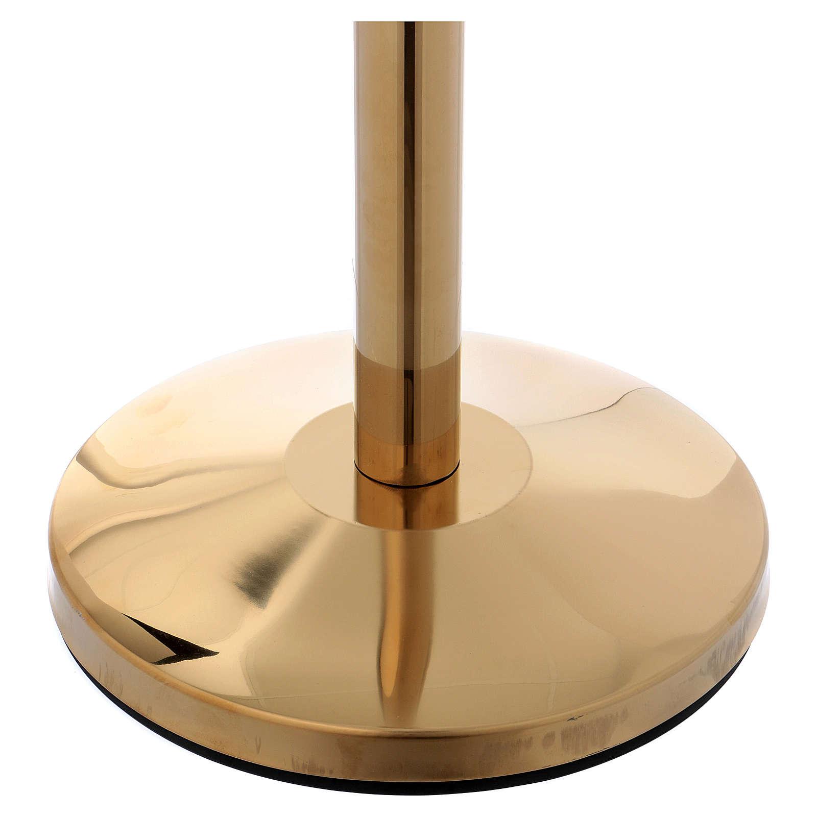 Poteau en acier doré 100 cm 3