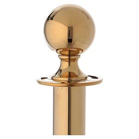 Gold plated steel pole 40 in s2