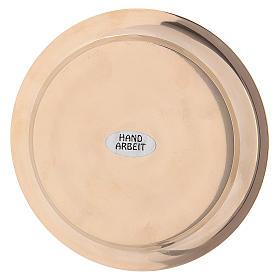 Assiette laiton doré diamètre 11 cm s3