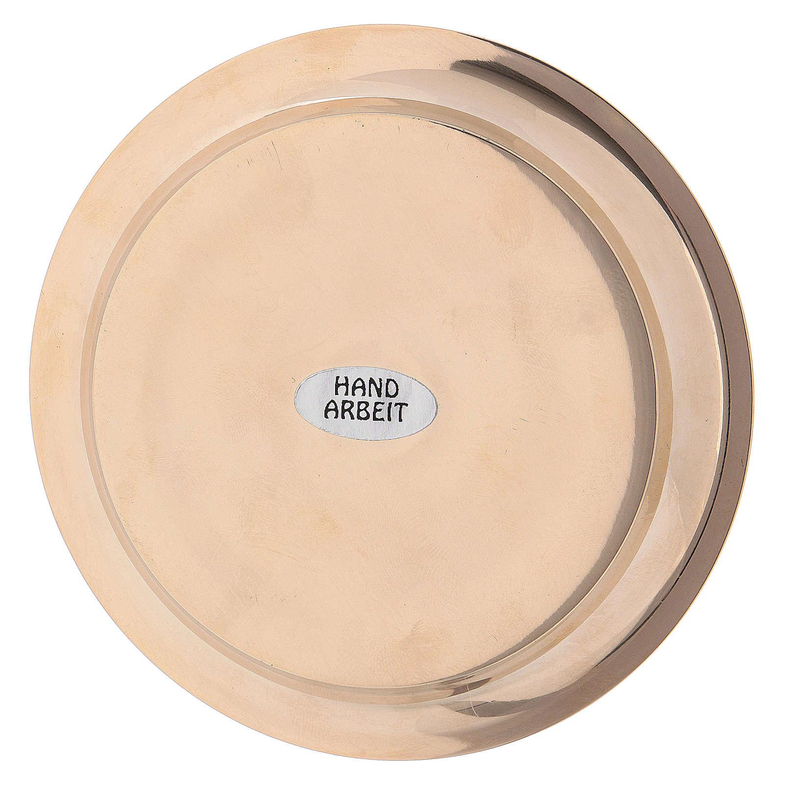 Piattino ottone dorato diametro 11 cm 3