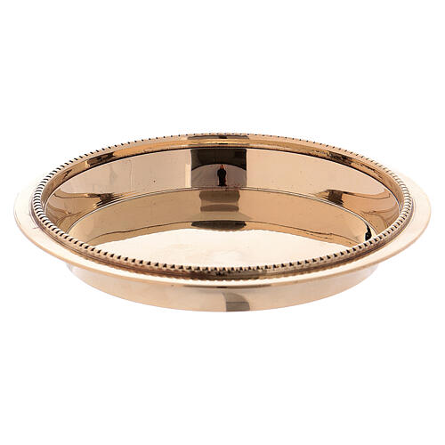 Gold plated brass tray 4 in of diameter 2