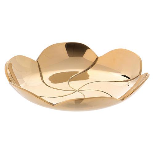 Platillo latón dorado loto d. 9,5 cm 1