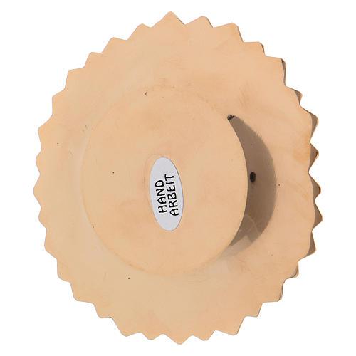 Assiette laiton doré fleur décorations feuille diam. 10 cm 3