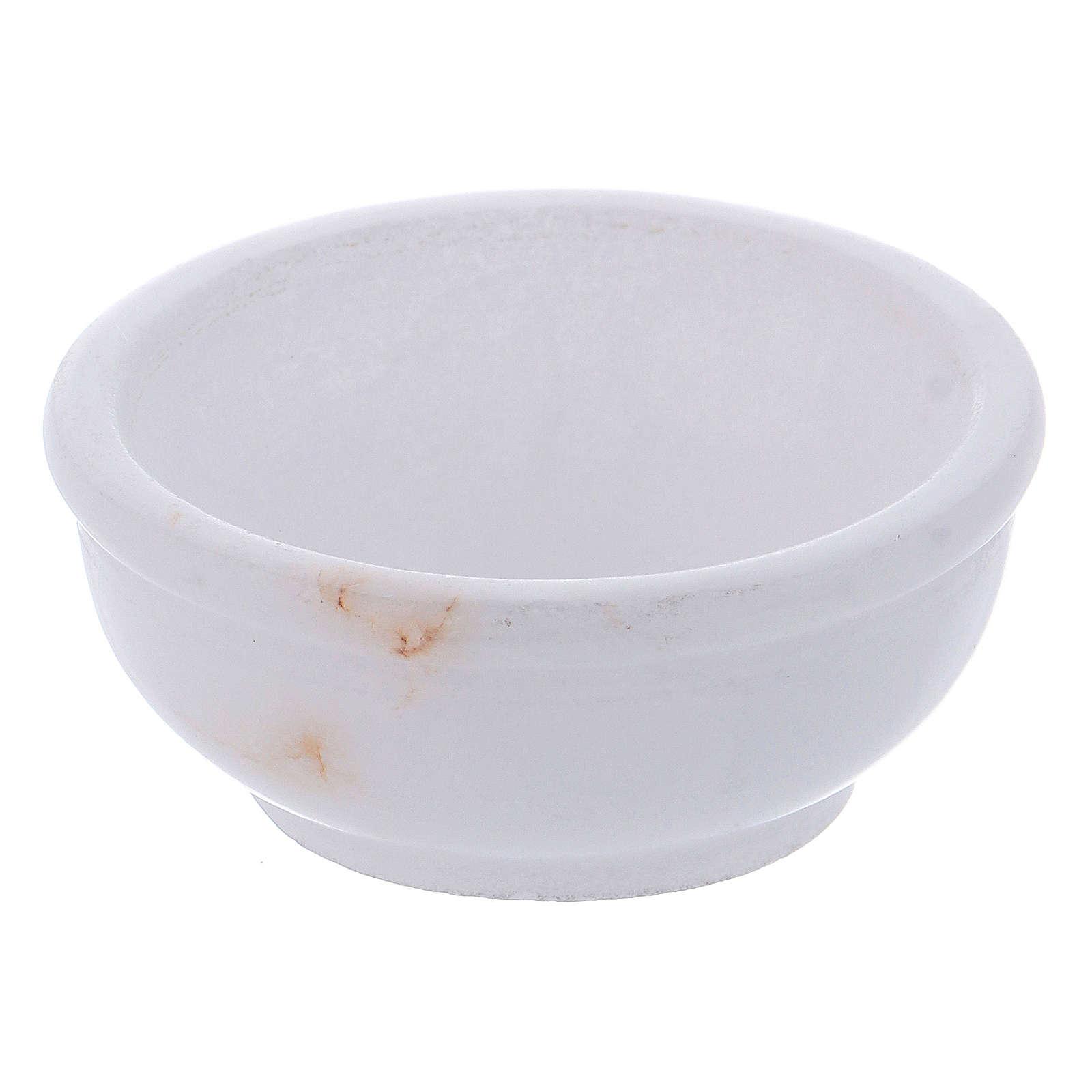 Ciotolina portaincenso pietra ollare bianca 6 cm 3