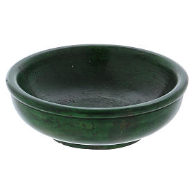 Ciotolina portaincenso pietra ollare verde 10 cm s1