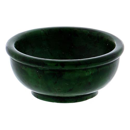 Bol pour encens stéatite verte 6,5 cm 2