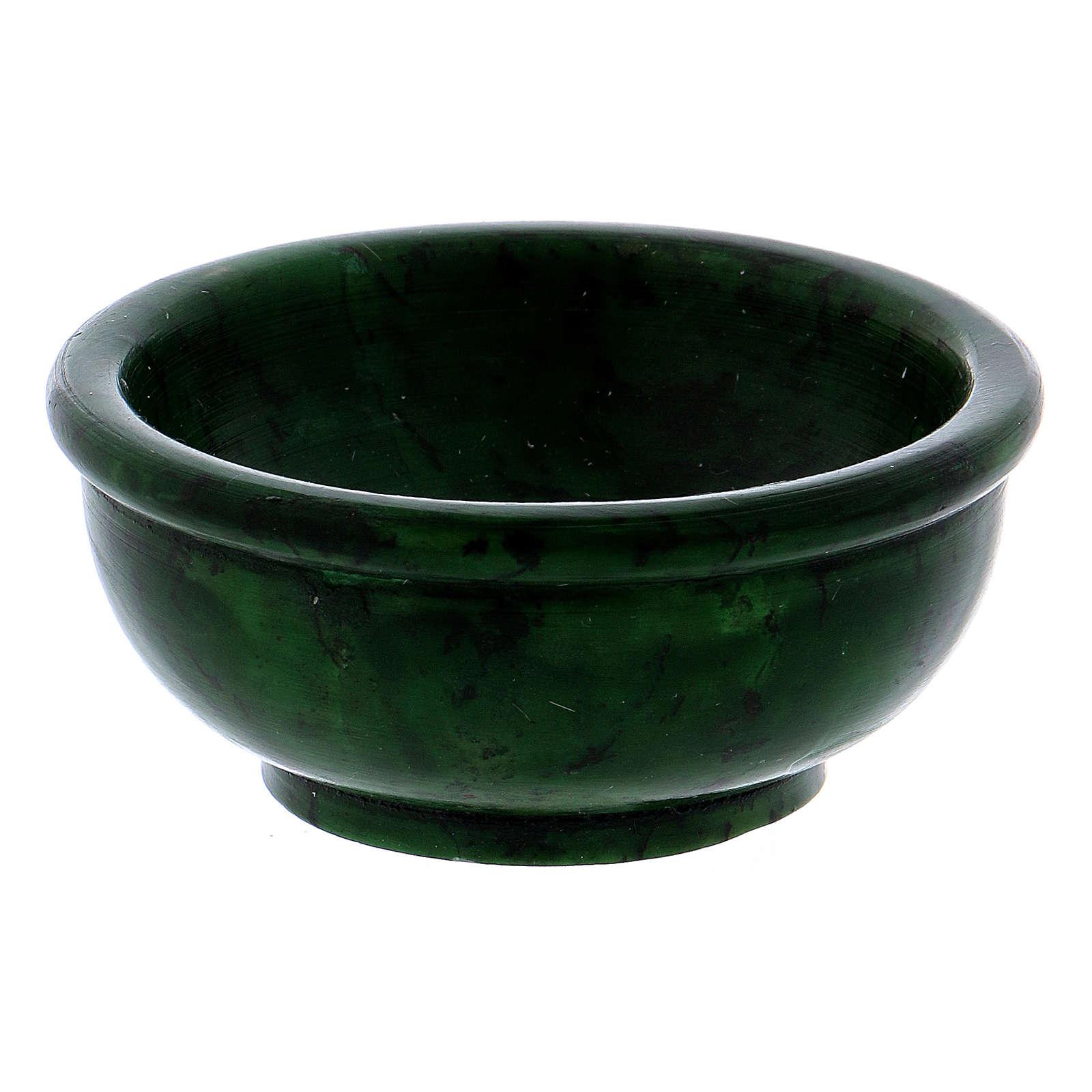 Ciotolina porta incenso pietra ollare verde 6,5 cm 3
