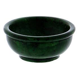 Ciotolina porta incenso pietra ollare verde 6,5 cm s2