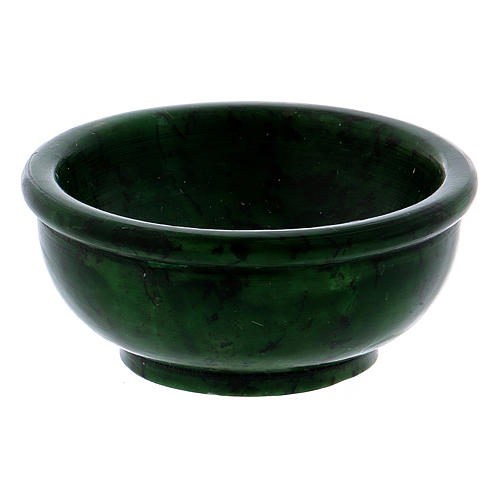 Ciotolina porta incenso pietra ollare verde 6,5 cm 2