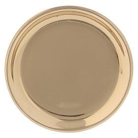 Golden brass round saucer 10 cm s1