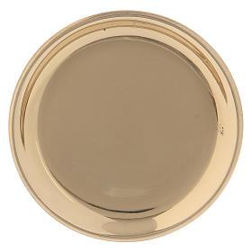 Assiette ronde laiton doré 10 cm s1