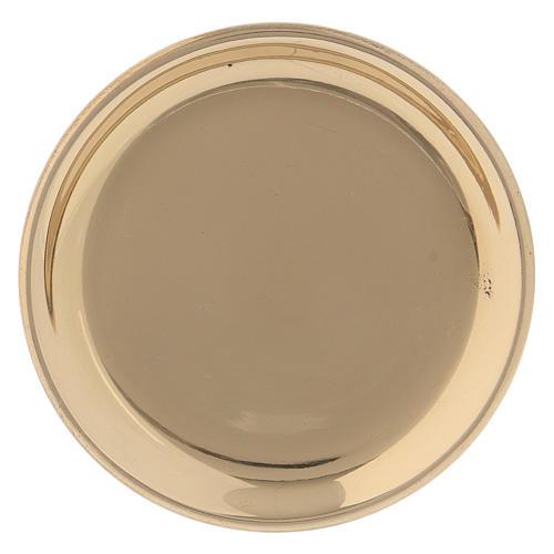 Assiette ronde laiton doré 10 cm 1