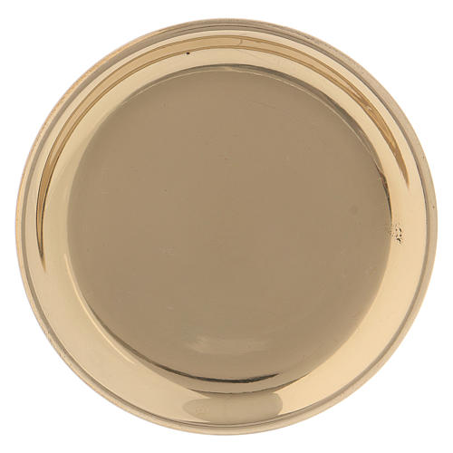 Piattino rotondo ottone dorato 10 cm 1