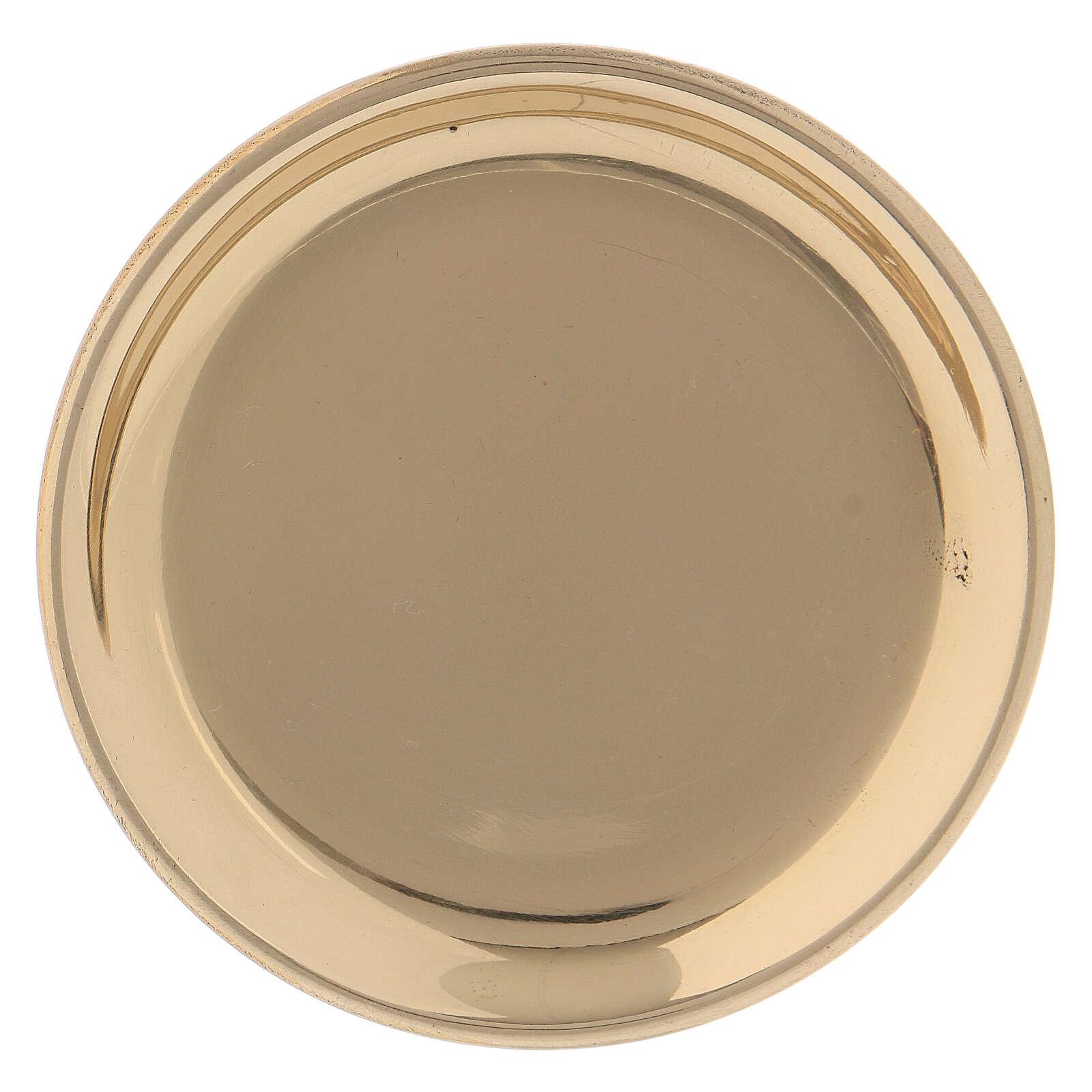 Prato redondo latão dourado 10 cm 3