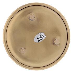 Prato redondo latão dourado 10 cm s3
