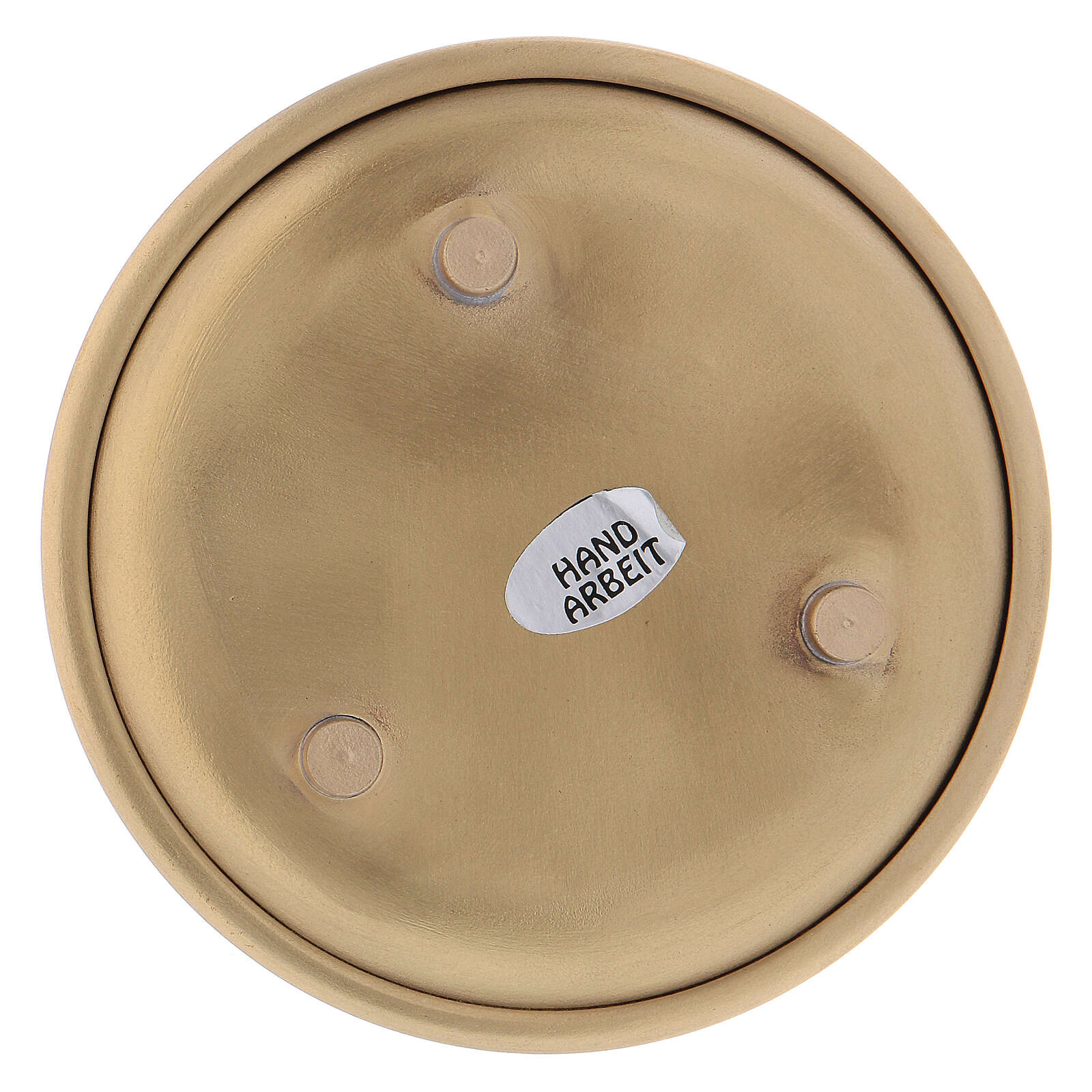 Gold plated brass round plate 4 in 3